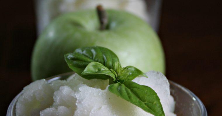 Sorbetto alla mela verde e basilico