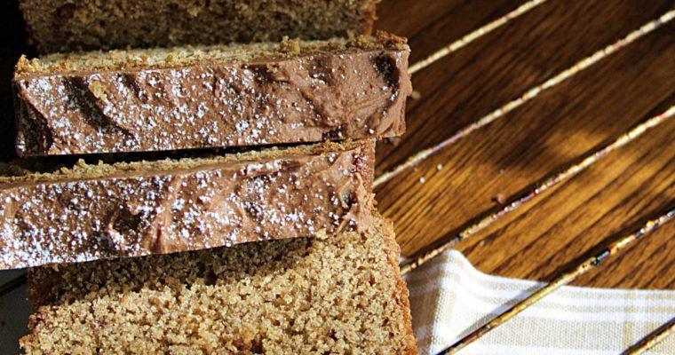 Plumcake alla cannella – con ganache al cioccolato –