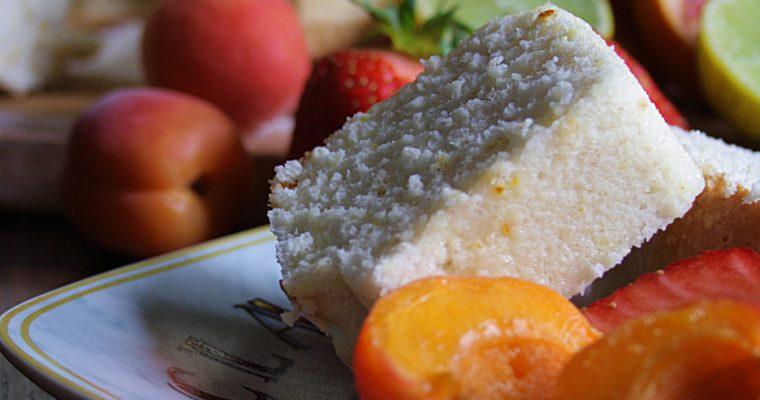 Angel cake al lime e arancia