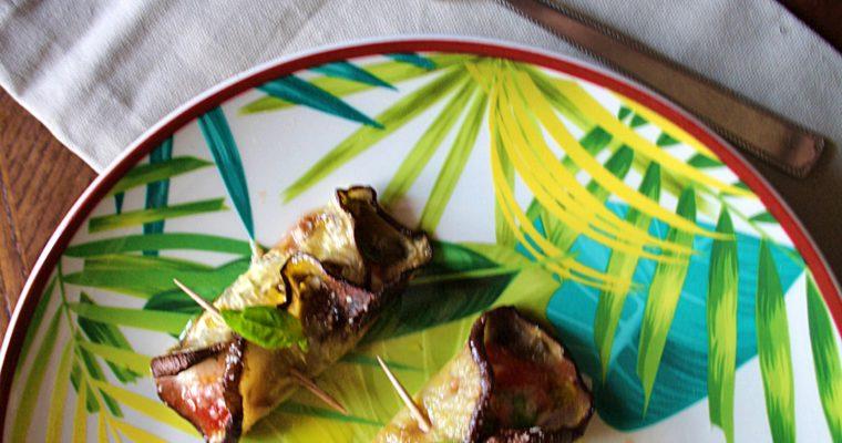 Involtini di parmigiana al forno