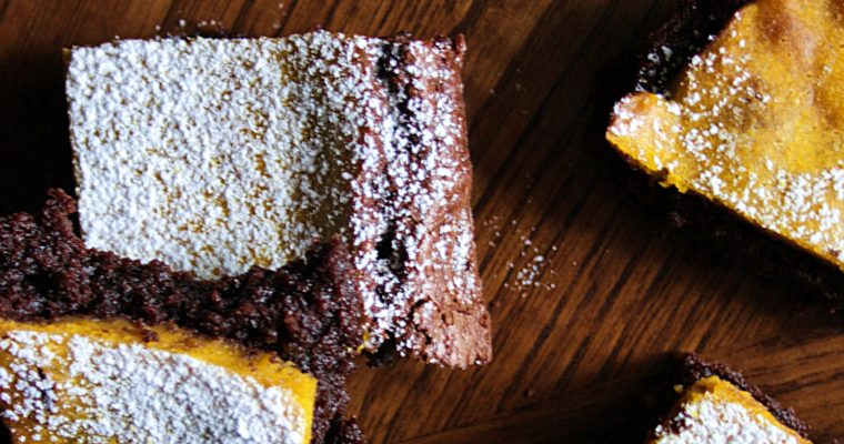 Brownies – con mandarino e zucca –