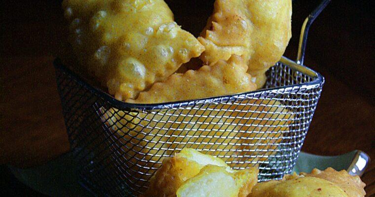 Tortelli fritti di patate e formaggio
